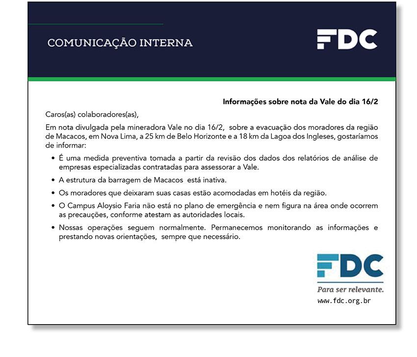 Comunica��o interna - FDC