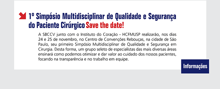 1º Simpósio Multidisciplinar de Qualidade e Segurança do Paciente Cirúrgico