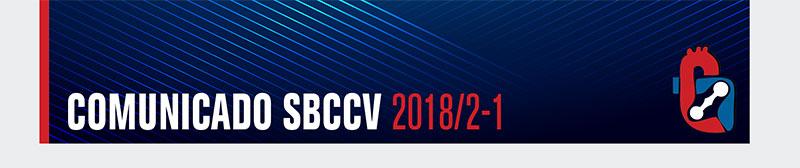 Comunicado SBCCV 2018/2-1