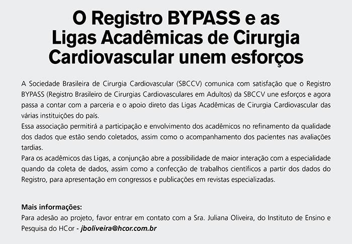 O Registro BYPASS e as Ligas Acadêmicas de Cirurgia Cardiovascular unem esforços