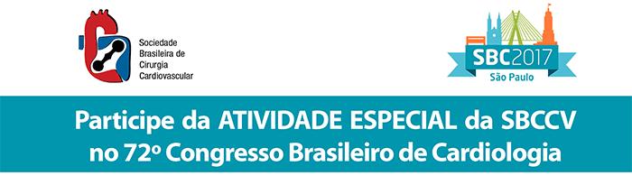 Participe da ATIVIDADE ESPECIAL da SBCCV no 72º Congresso Brasileiro de Cardiologia
